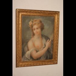 Pastel de femme 18 eme siècle
