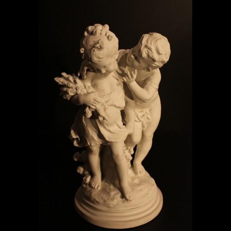 Sculpture en Biscuit 19 eme siècle.