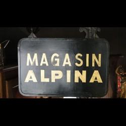 Enseigne de magasin ALPINA