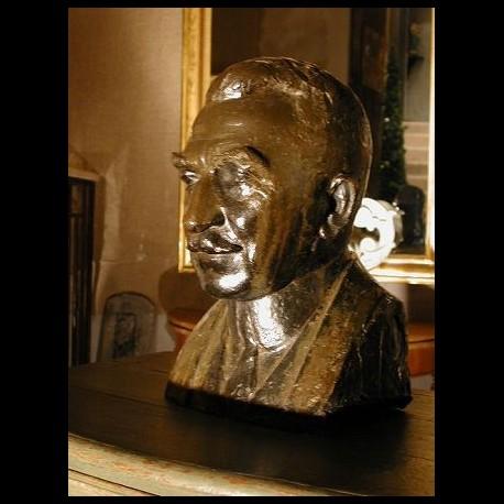 Buste en bronze patiné 1939 A. Quinquand