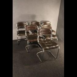 Série de 6 chaises des années 70