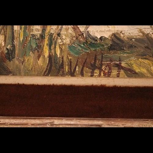 Peinture « DAUCHOT » 1970 - Au réveil du temps