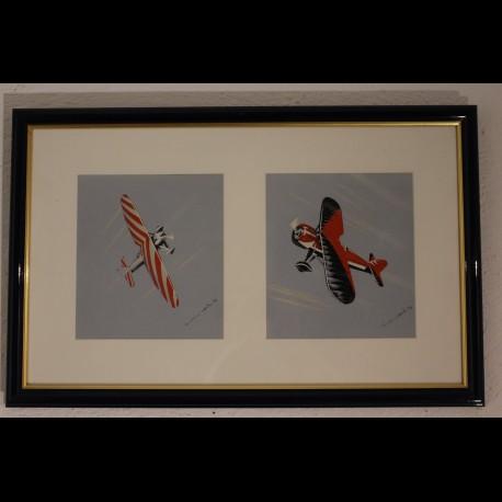 Aquarelle d'avions de voltige