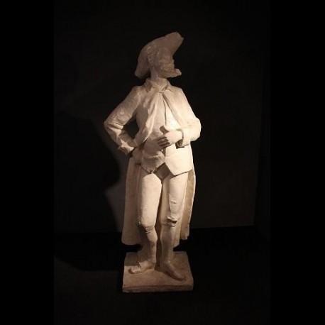 Statue en plâtre de gentilhomme du 18ème siècle